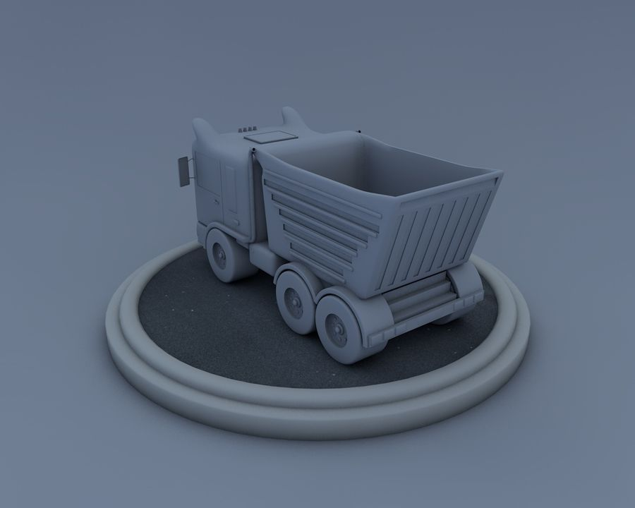 Cartoon truck royalty-free 3d model - Preview no. 4