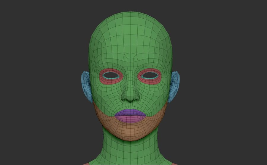 Female Base Mesh royalty-free 3d model - Preview no. 11