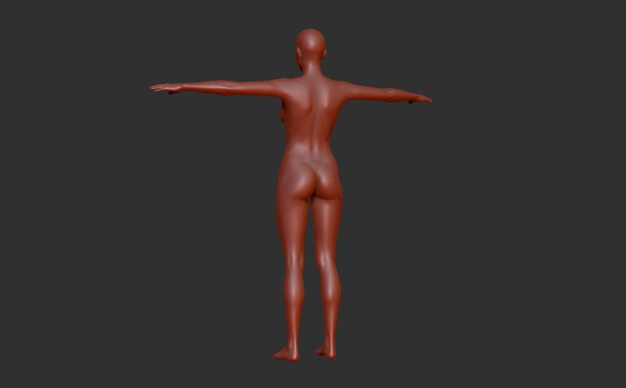 Malla Base Femenina royalty-free modelo 3d - Preview no. 4
