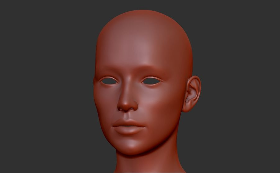 Malla Base Femenina royalty-free modelo 3d - Preview no. 1