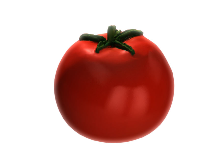 Tomato royalty-free 3d model - Preview no. 2
