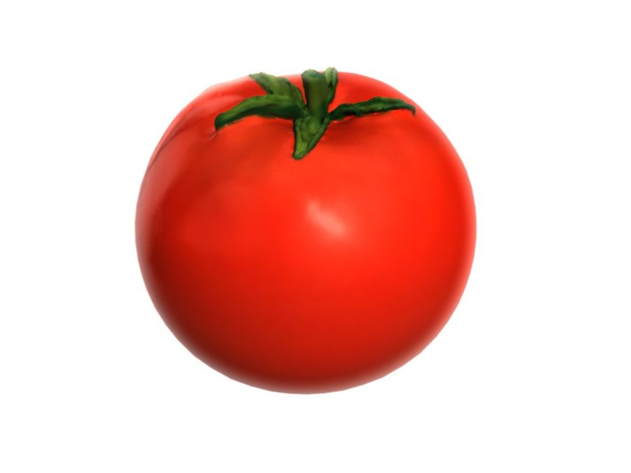 Tomato royalty-free 3d model - Preview no. 3