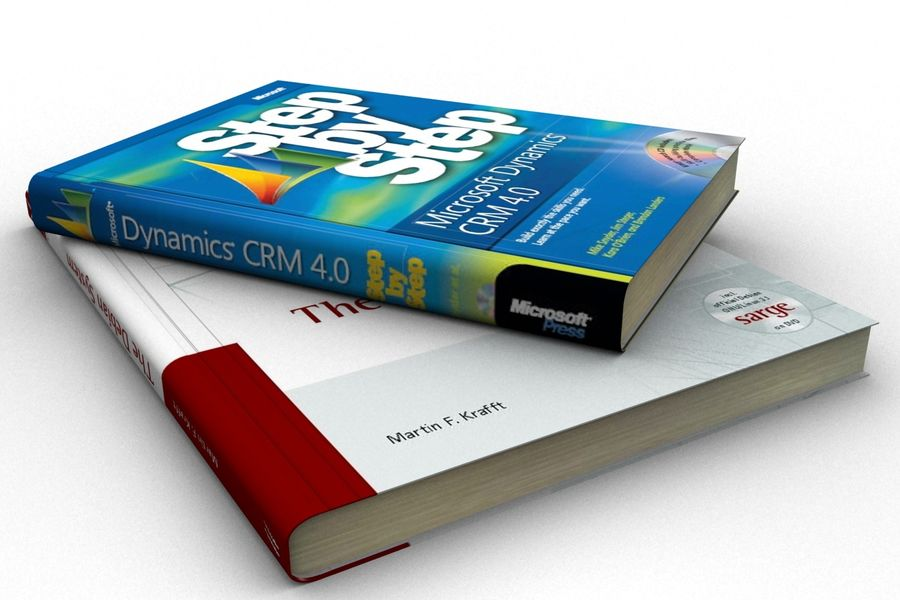 computers books royalty-free 3d model - Preview no. 1