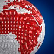 Dot Earth för nyheter 3d model