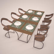 Komplet stołowy 3d model