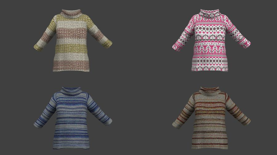 Toddler Rigged with clothes royalty-free 3d model - Preview no. 5