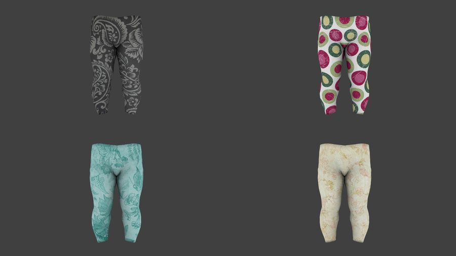 Toddler Rigged with clothes royalty-free 3d model - Preview no. 8