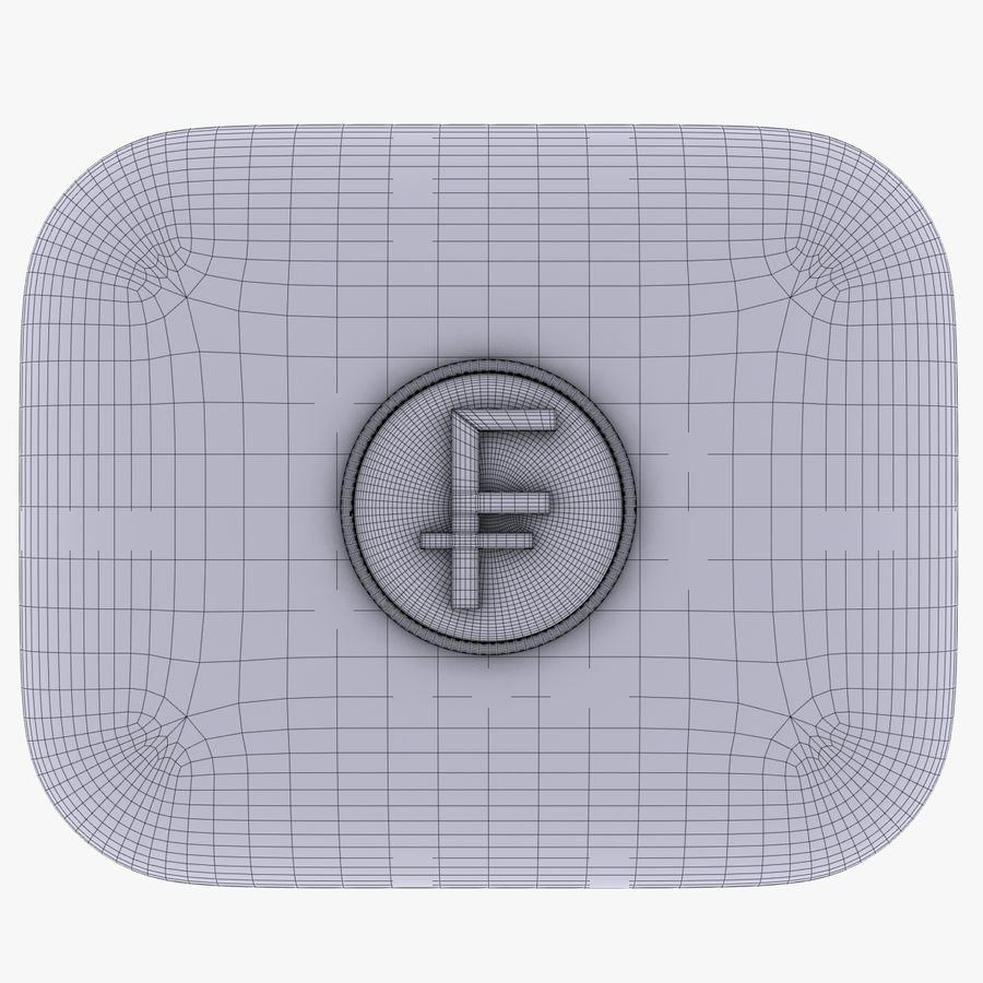 Switzerland Franc Icon 2 royalty-free 3d model - Preview no. 5