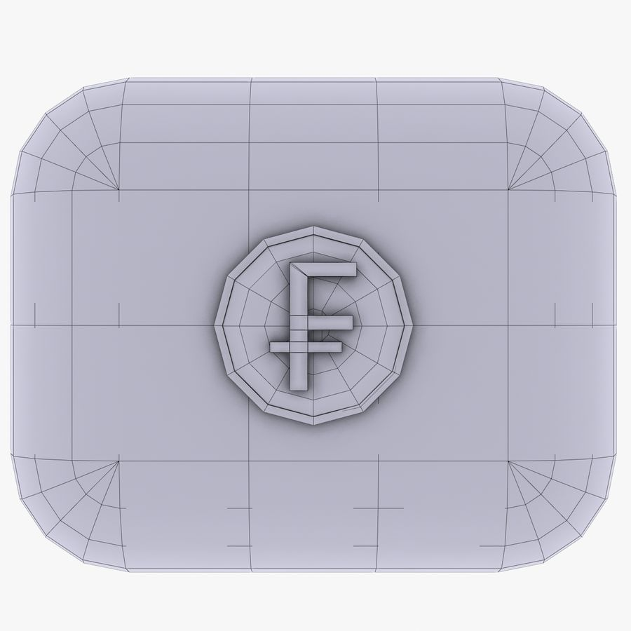 Switzerland Franc Icon 2 royalty-free 3d model - Preview no. 4
