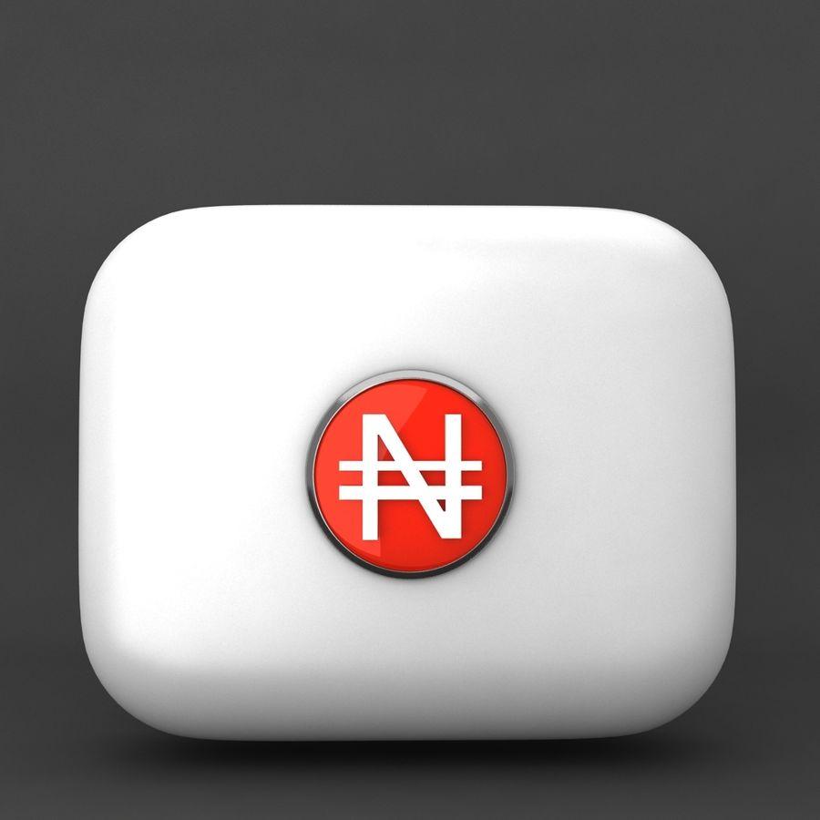 Nigeria Nairas Waluta Icomn royalty-free 3d model - Preview no. 1