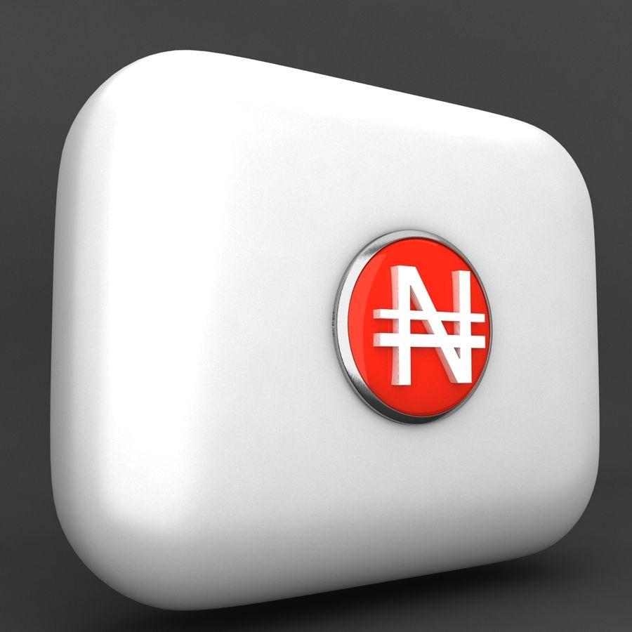 Nigeria Nairas Waluta Icomn royalty-free 3d model - Preview no. 2