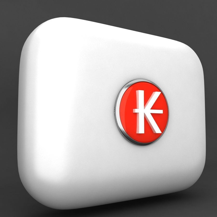 Laos Kips Currency Icon royalty-free 3d model - Preview no. 2