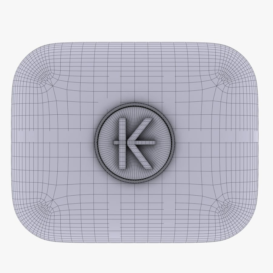 Laos Kips Currency Icon royalty-free 3d model - Preview no. 5