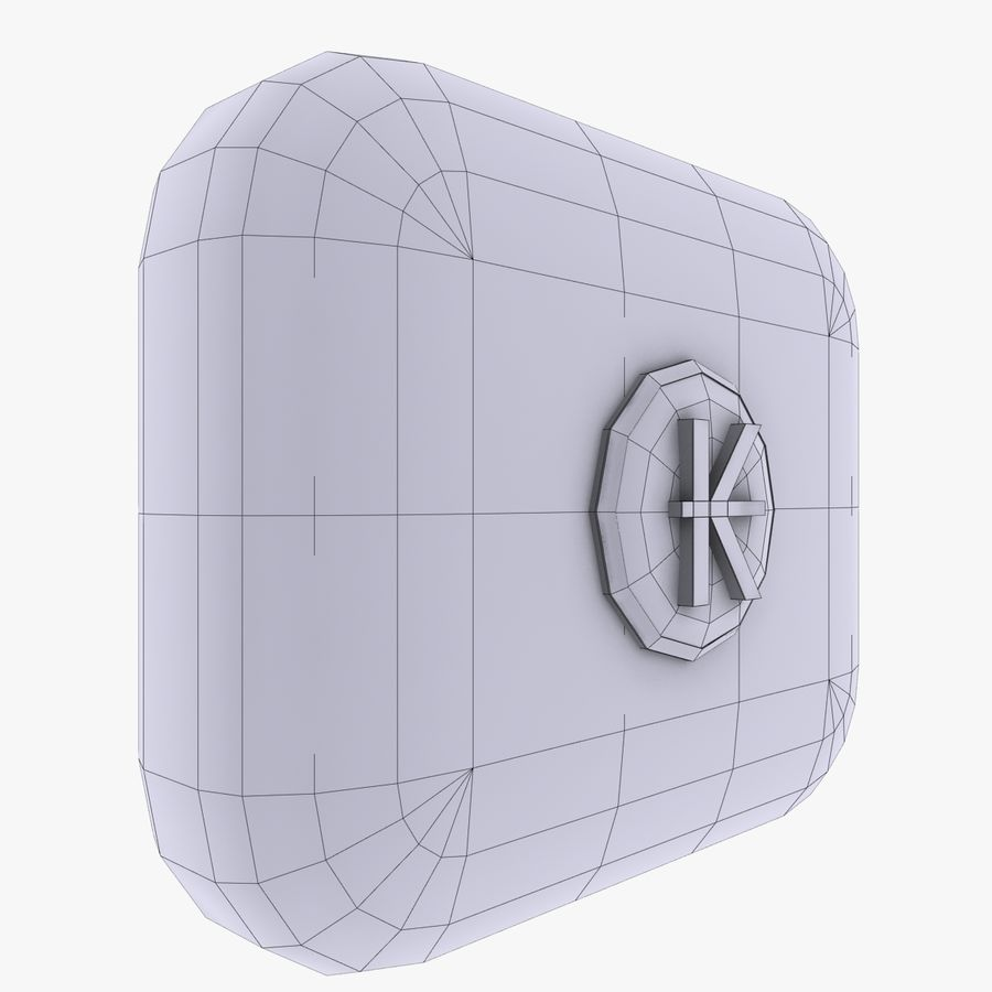 Laos Kips Currency Icon royalty-free 3d model - Preview no. 3