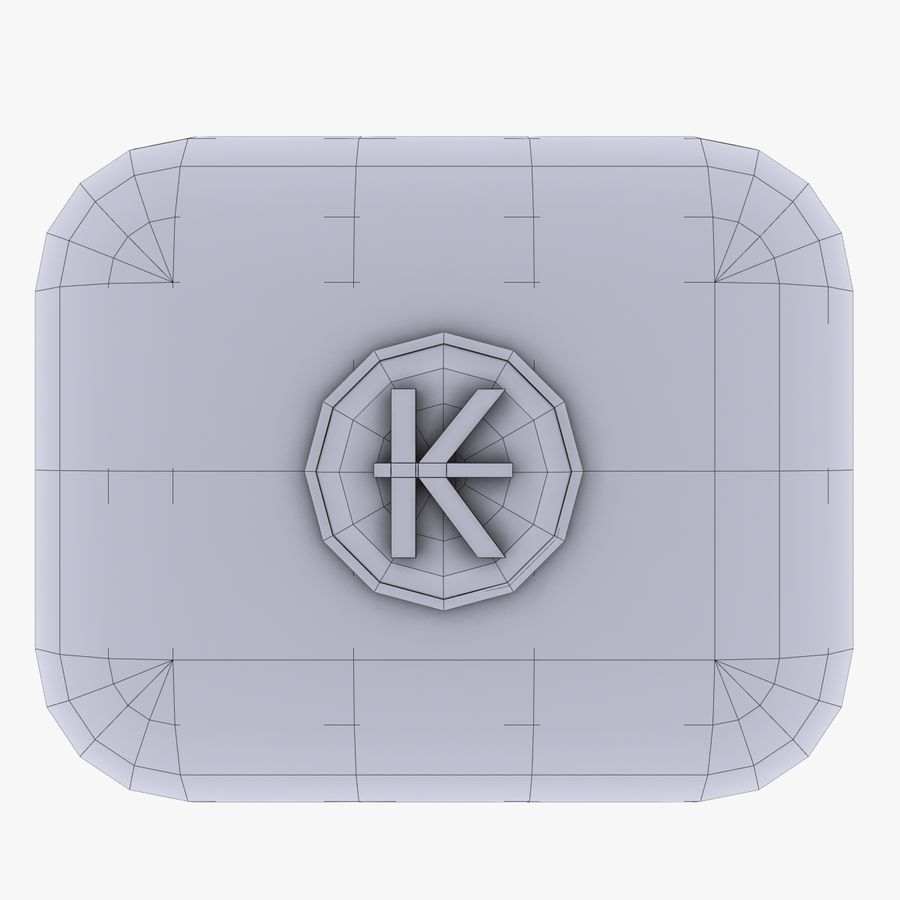 Laos Kips Currency Icon royalty-free 3d model - Preview no. 4