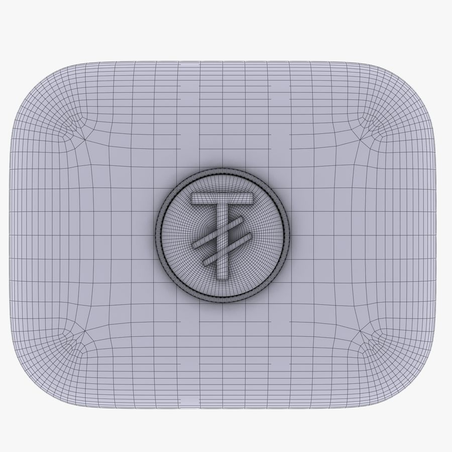 Mangolia Tugriks Currency Icon royalty-free 3d model - Preview no. 5