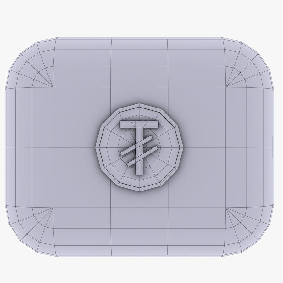 Mangolia Tugriks Currency Icon royalty-free 3d model - Preview no. 4