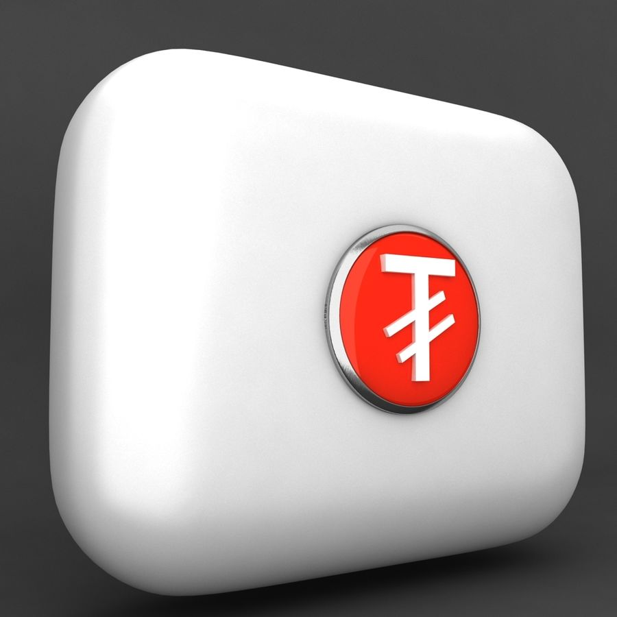 Mangolia Tugriks Currency Icon royalty-free 3d model - Preview no. 2