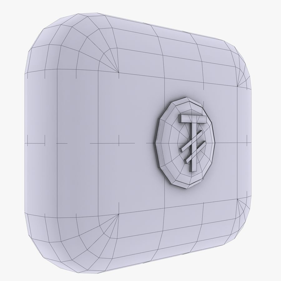 Mangolia Tugriks Currency Icon royalty-free 3d model - Preview no. 3