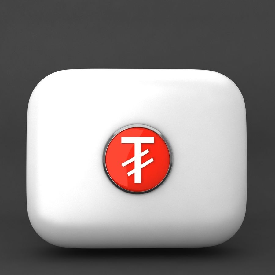 Mangolia Tugriks Currency Icon royalty-free 3d model - Preview no. 1