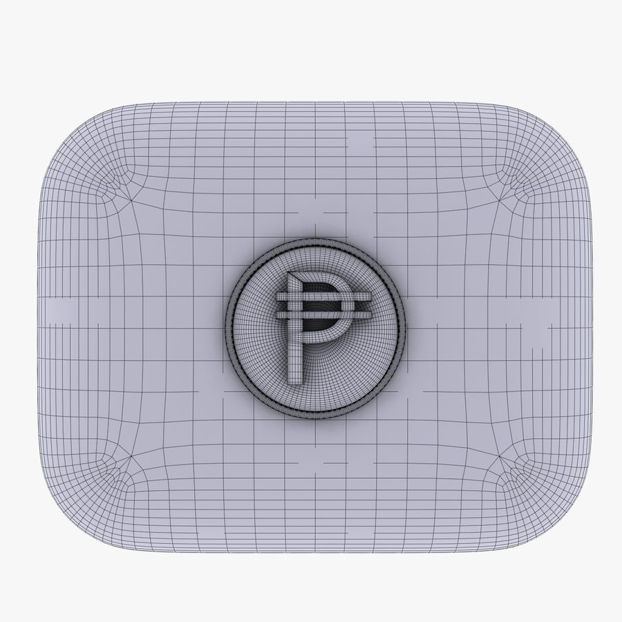 Cuba Pesos Currency Icon royalty-free 3d model - Preview no. 5