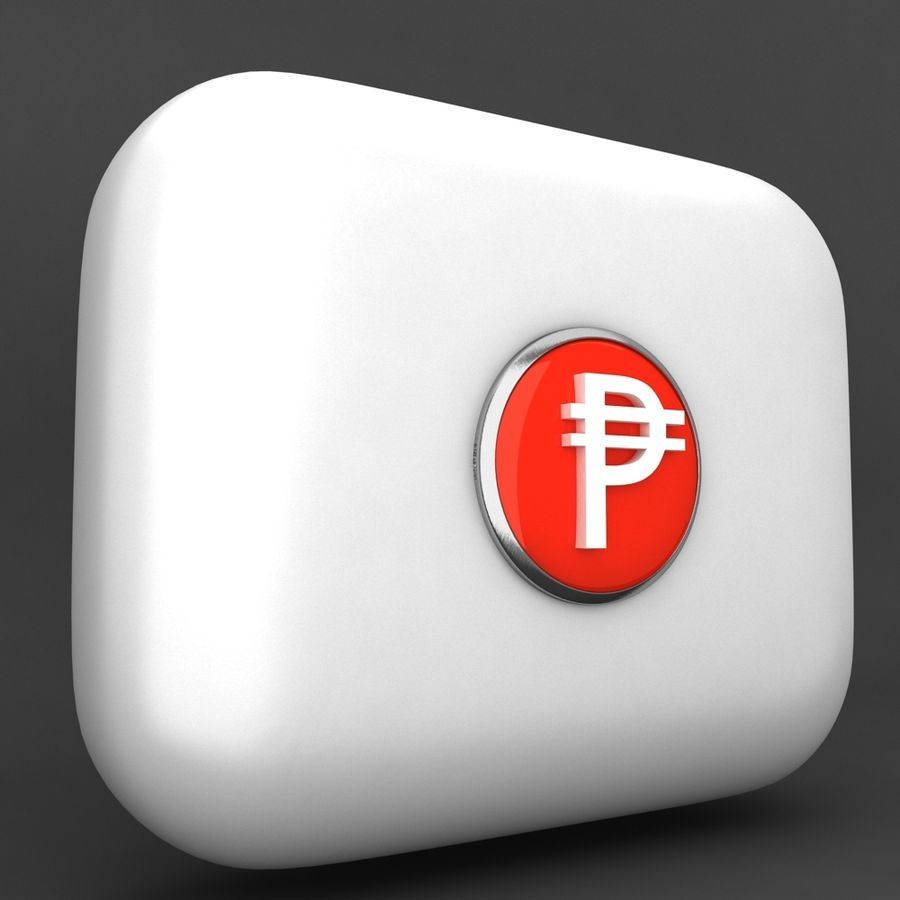 Cuba Pesos Currency Icon royalty-free 3d model - Preview no. 2