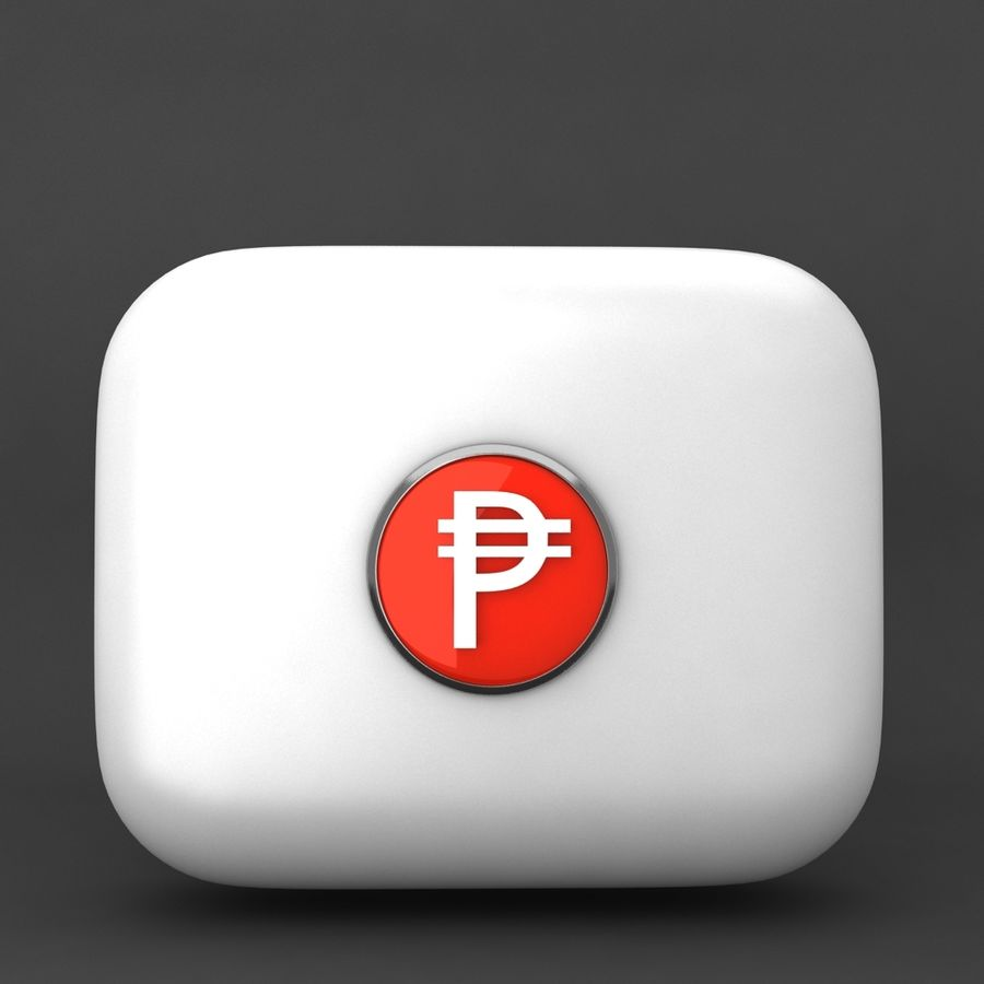 Cuba Pesos Currency Icon royalty-free 3d model - Preview no. 1