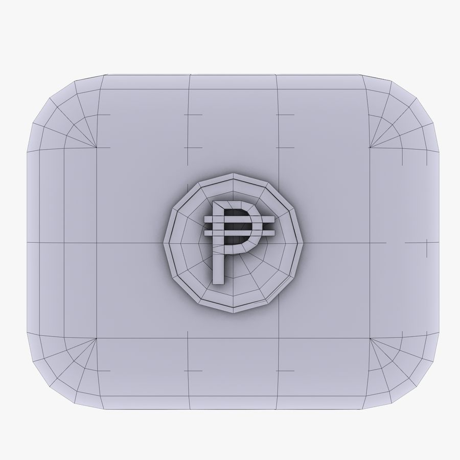 Cuba Pesos Currency Icon royalty-free 3d model - Preview no. 4