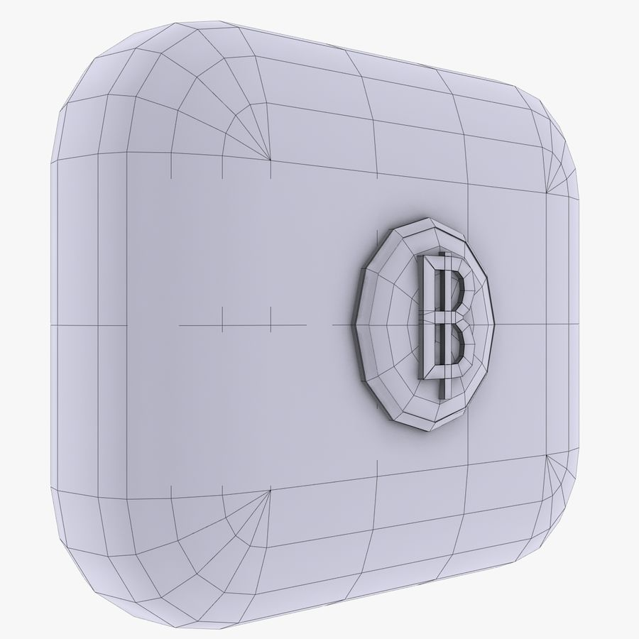 Thailand Baht currency Icon royalty-free 3d model - Preview no. 3