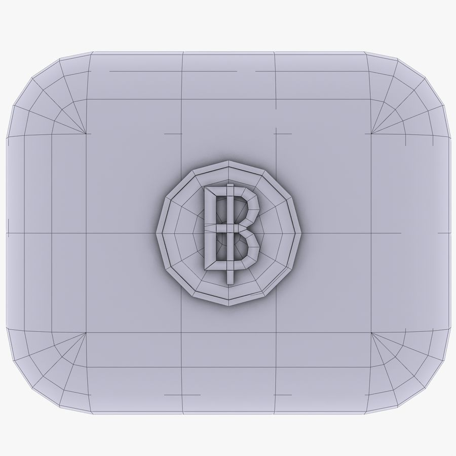Thailand Baht currency Icon royalty-free 3d model - Preview no. 4