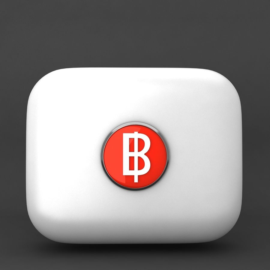 Thailand Baht currency Icon royalty-free 3d model - Preview no. 1