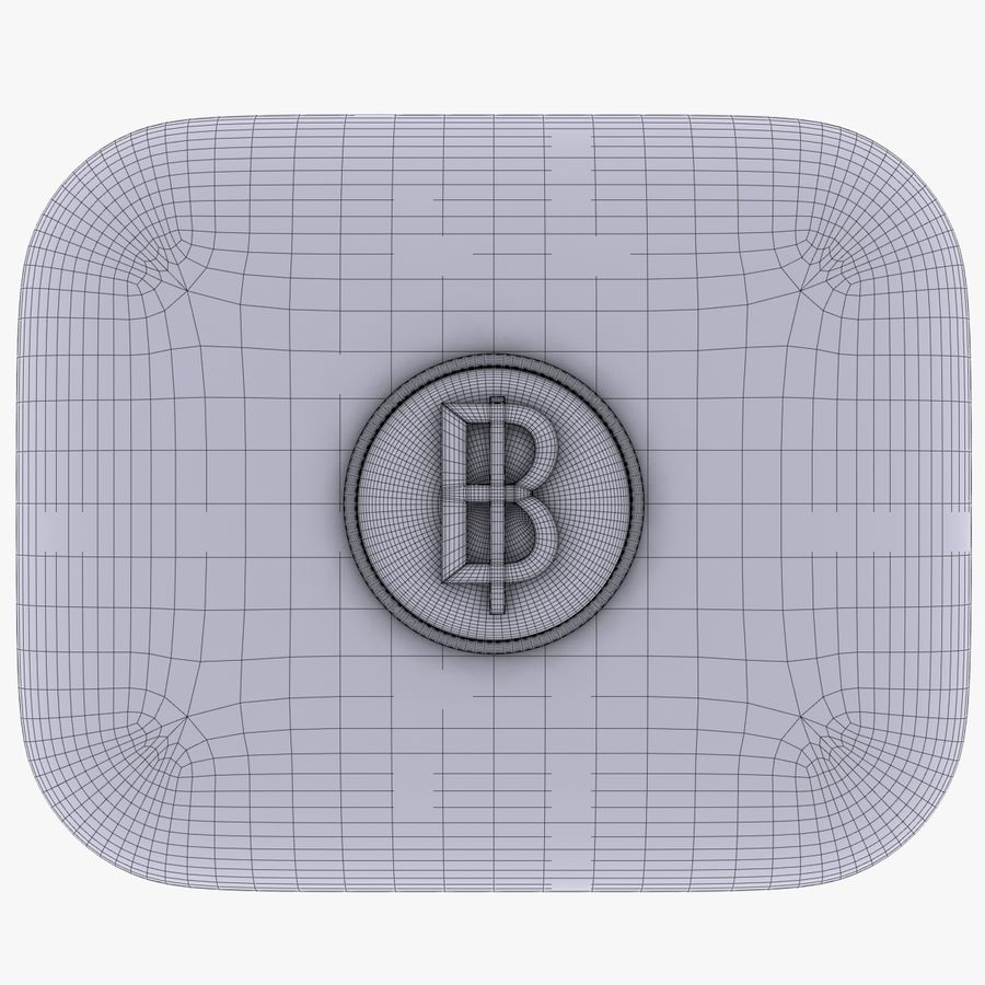 Thailand Baht currency Icon royalty-free 3d model - Preview no. 5