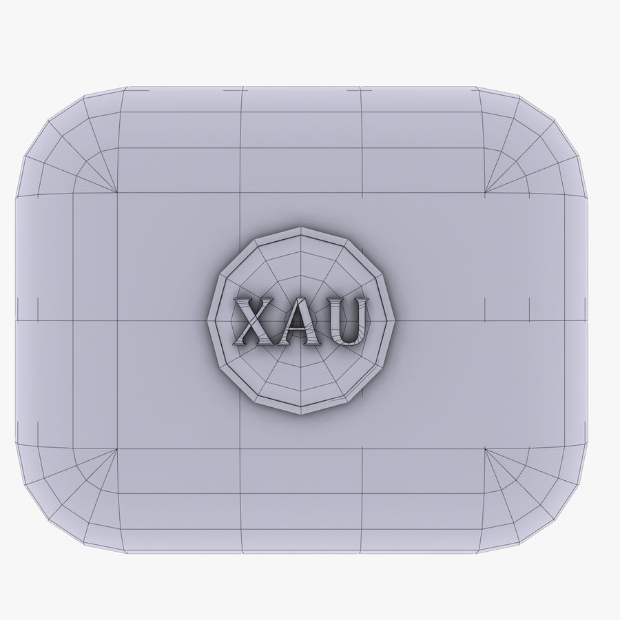 XAU Gold currency Icon royalty-free 3d model - Preview no. 4