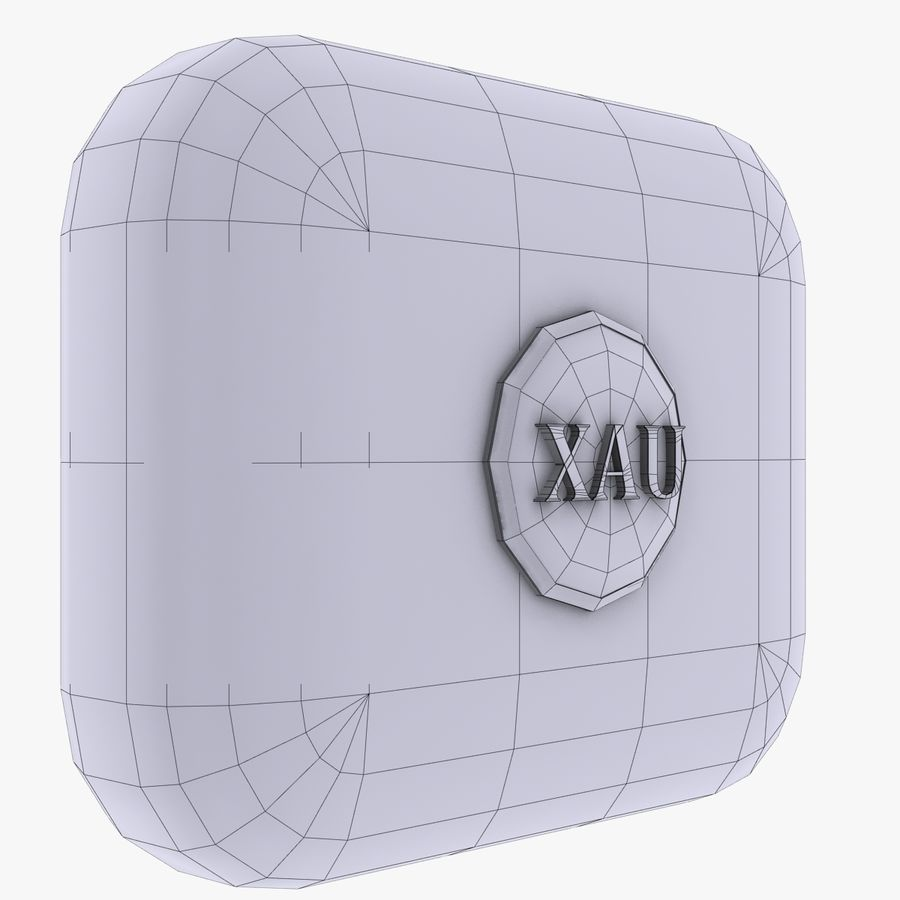 XAU Gold currency Icon royalty-free 3d model - Preview no. 3