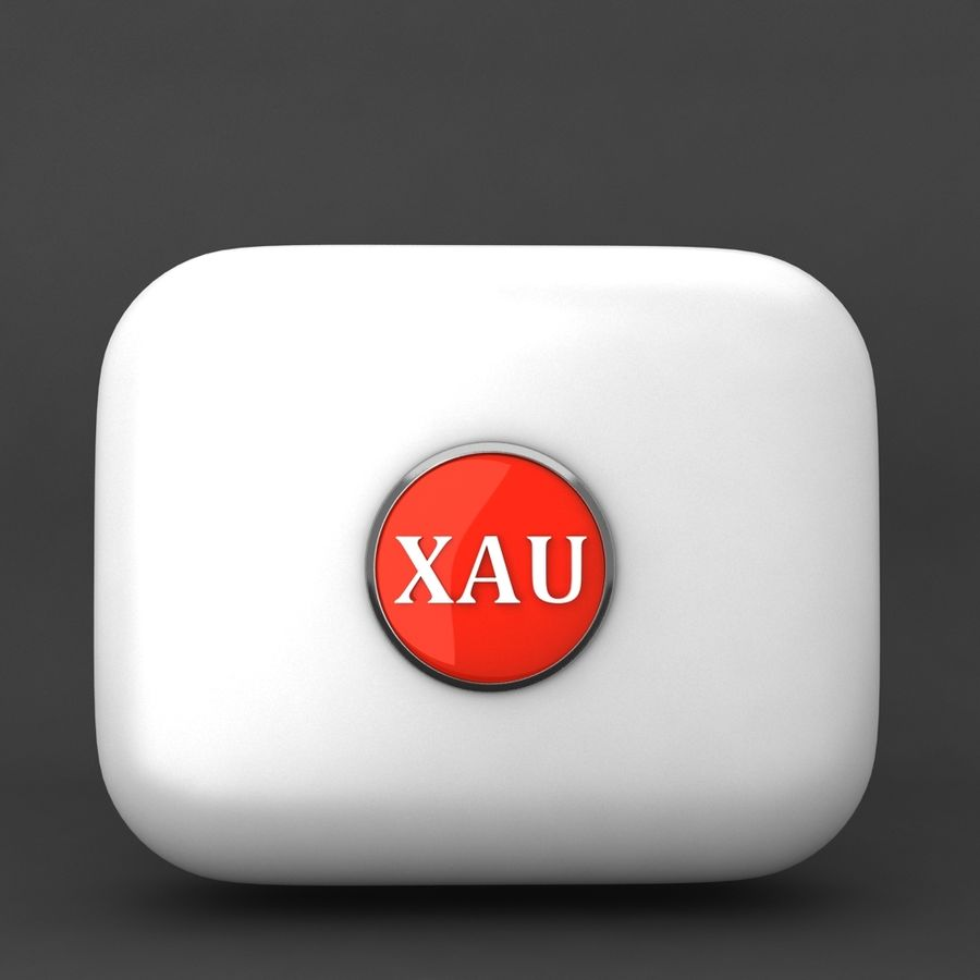 XAU Gold currency Icon royalty-free 3d model - Preview no. 1