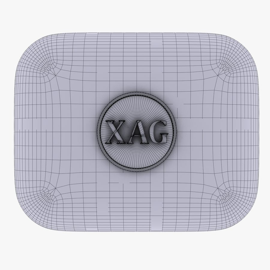 XAG silver currency Icon royalty-free 3d model - Preview no. 5