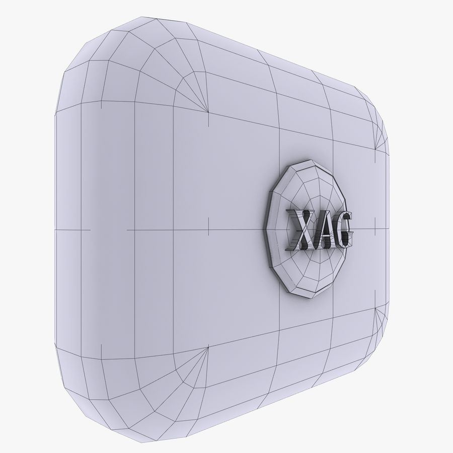 XAG silver currency Icon royalty-free 3d model - Preview no. 3