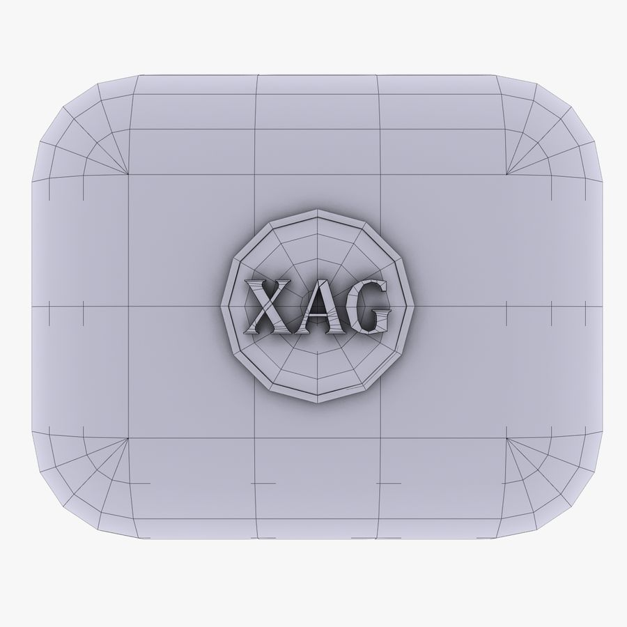 XAG silver currency Icon royalty-free 3d model - Preview no. 4