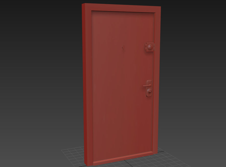 Dom Mieszkanie Drzwi royalty-free 3d model - Preview no. 1