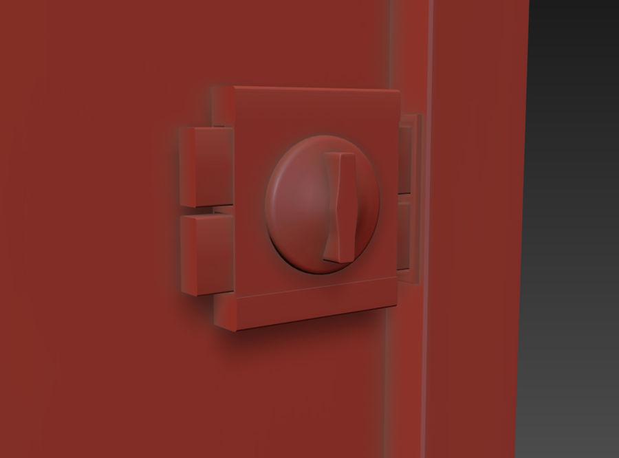 Dom Mieszkanie Drzwi royalty-free 3d model - Preview no. 5