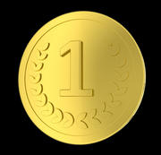 抽象货币硬币 3d model