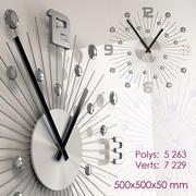 Kristalleri olan duvar saati 3d model
