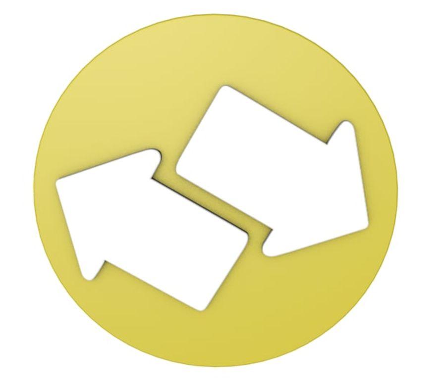 ícone de setas royalty-free 3d model - Preview no. 3