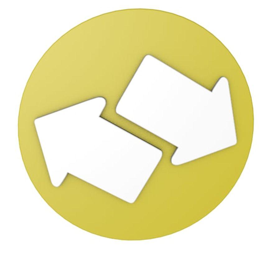 ícone de setas royalty-free 3d model - Preview no. 1