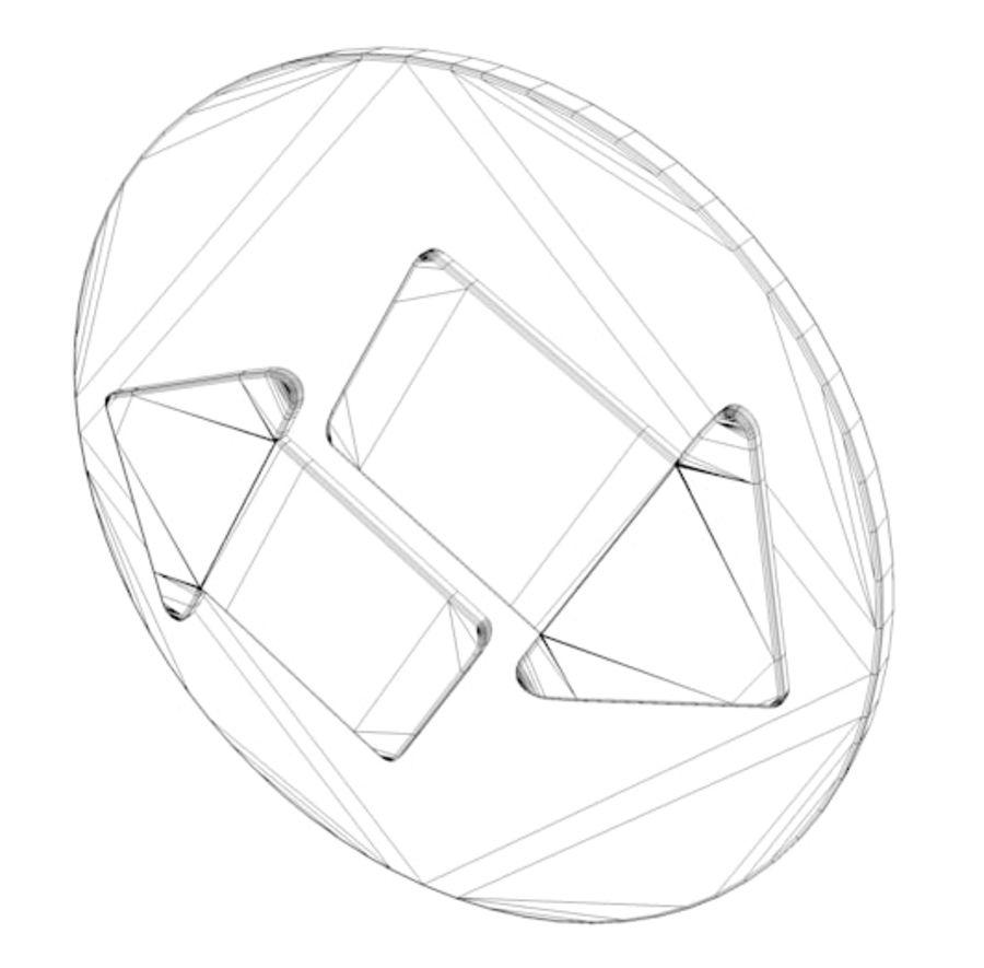 ícone de setas royalty-free 3d model - Preview no. 4