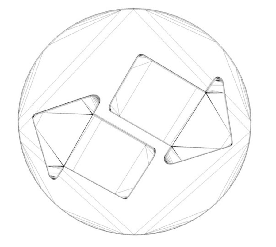 ícone de setas royalty-free 3d model - Preview no. 5