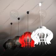 ペンダントライト-ブダDS +電球ランプ 3d model