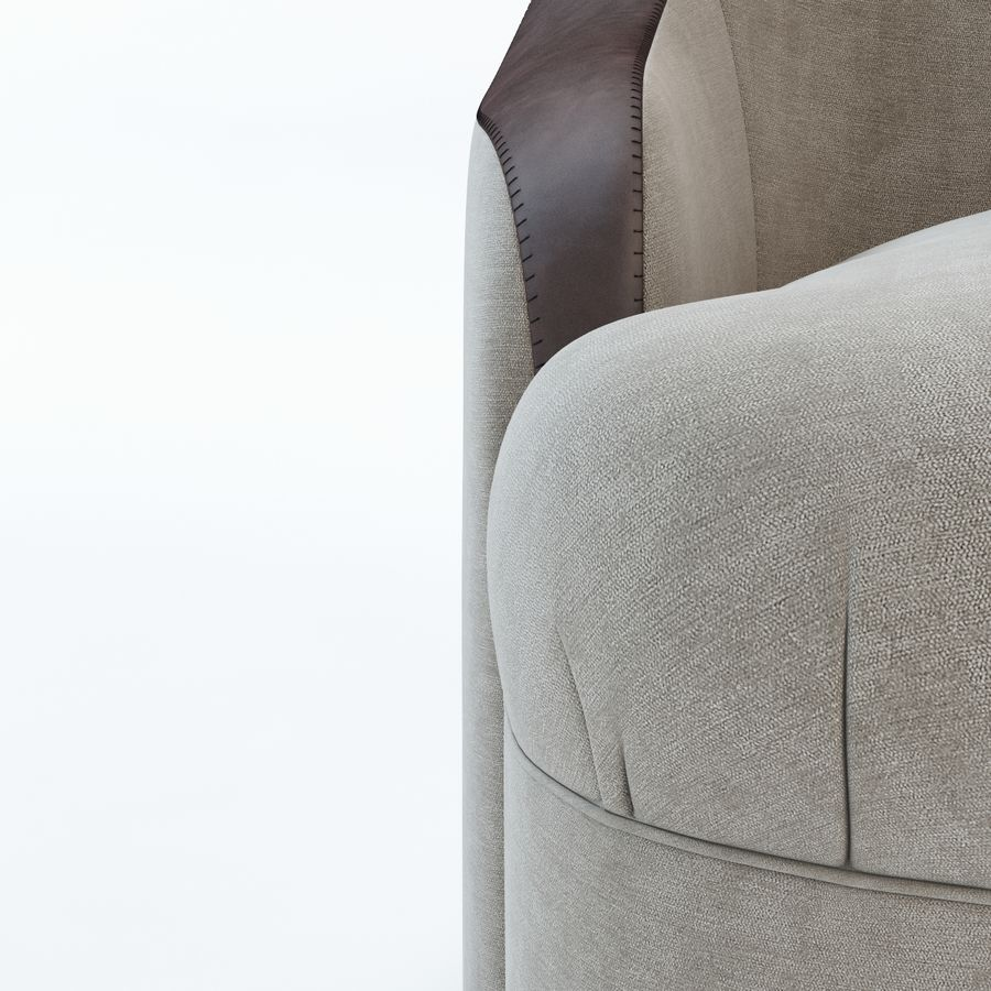 detalj lyxigt sovrumstol royalty-free 3d model - Preview no. 3