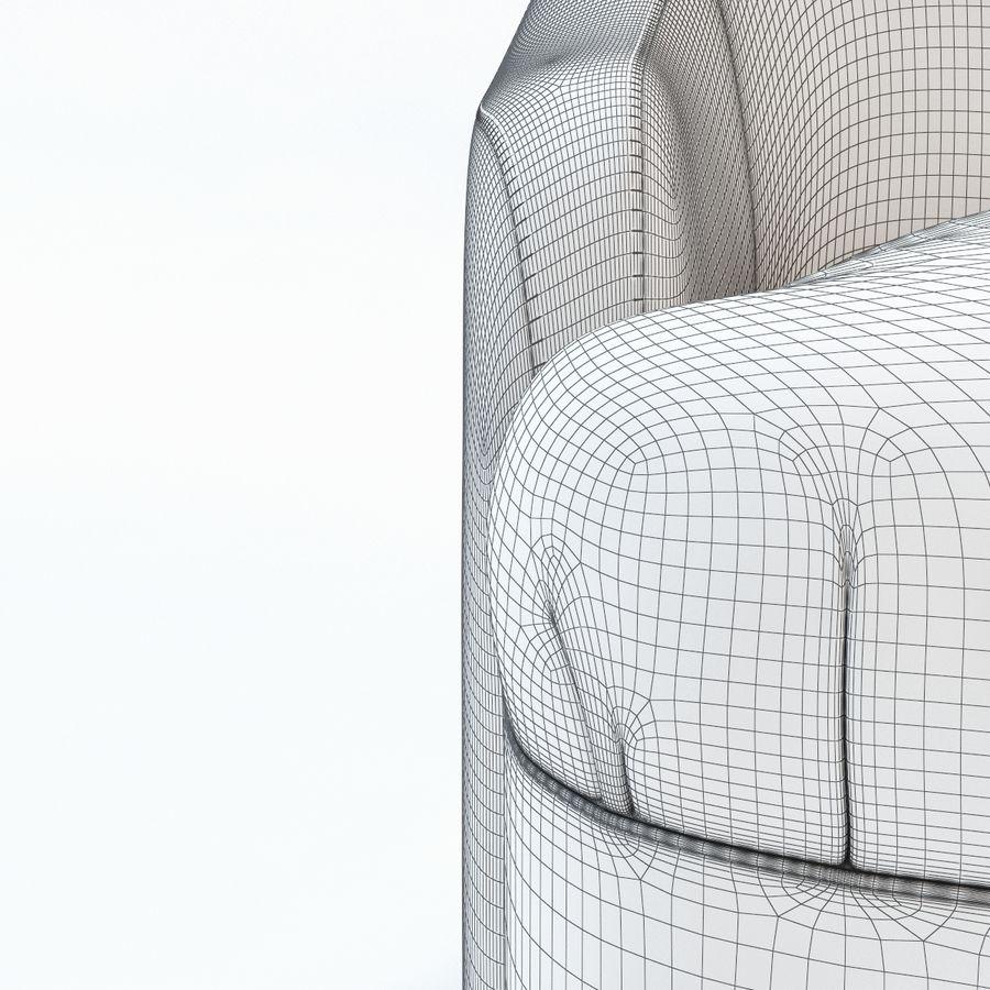 detalj lyxigt sovrumstol royalty-free 3d model - Preview no. 7