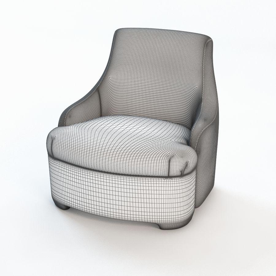 detalj lyxigt sovrumstol royalty-free 3d model - Preview no. 5